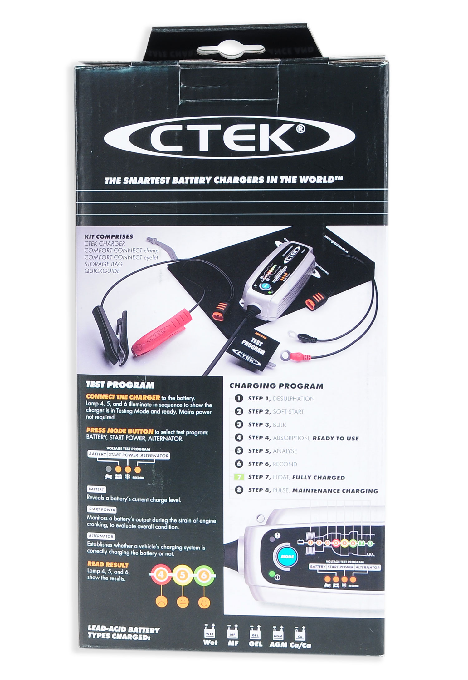 ctek mxs 5 0 test charge 56 308 ebay. Black Bedroom Furniture Sets. Home Design Ideas
